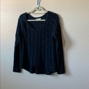 Dark blue Abercrombie and Fitch knitted sweater